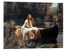 Cuadro de PVC  La dama de Shalott - John William Waterhouse