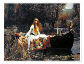 Póster  La dama de Shalott - John William Waterhouse