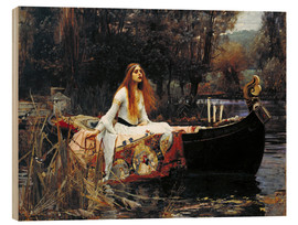 Cuadro de madera  La dama de Shalott - John William Waterhouse