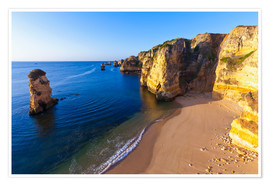 Póster Beach near Lagos in the Algarve