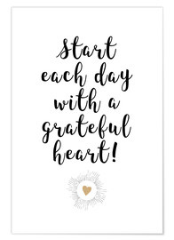 Póster Grateful heart