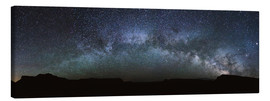 Lienzo  Panoramic of the Milky way arch in the sky, United States - Matteo Colombo
