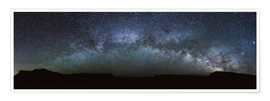 Póster  Panoramic of the Milky way arch in the sky, United States - Matteo Colombo
