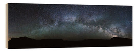 Cuadro de madera  Panoramic of the Milky way arch in the sky, United States - Matteo Colombo