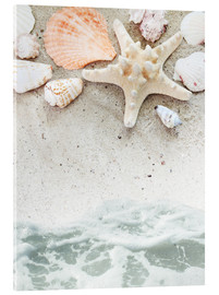 Cuadro de metacrilato  Sea Beach with starfish