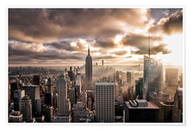 Póster  Sunset New York - Sören Bartosch