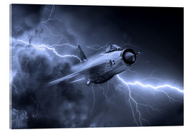 Cuadro de metacrilato  Lightning Power Mono - airpowerart