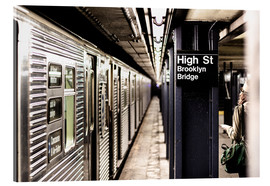 Cuadro de metacrilato  New York City Subway, High Street, Brooklyn - Sascha Kilmer