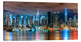 Lienzo  New York, Midtown Skyline by Night - Sascha Kilmer