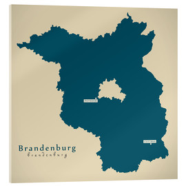 Cuadro de metacrilato  Brandenburg DE Germany Map Artwork - Ingo Menhard