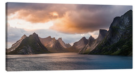 Lienzo  Lofoten Evening Atmosphere, Moskenes, Reine, Norway - Markus Ulrich