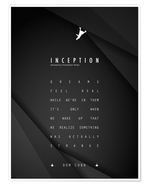 Póster  Inception - Christopher Nolan - dear dear