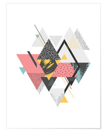 Póster Colorful Triangles