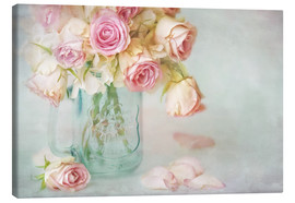 Lienzo  lovely pink roses - Lizzy Pe
