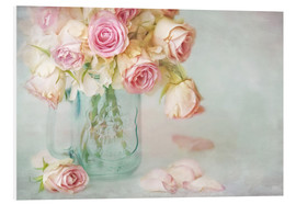 Cuadro de PVC  lovely pink roses - Lizzy Pe