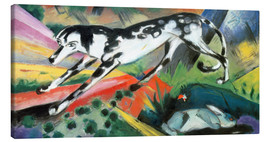 Lienzo  The fear of the rabbit - Franz Marc