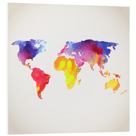 Forex  World map in water color
