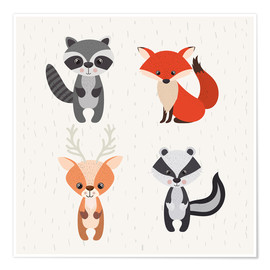 Póster Forest animals