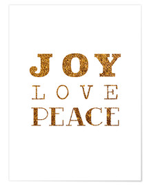 Póster Joy, Love, Peace I