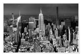 Póster Empire State Building, New York City (monochrome)