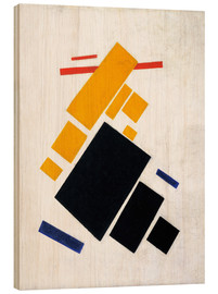 Cuadro de madera  Suprematische Composition: Airplane Flying - Kasimir Sewerinowitsch  Malewitsch
