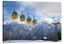 Lienzo  Cable car in the Alps