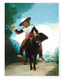 Póster  Boy on a Ram - Francisco José de Goya