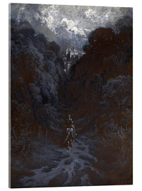 Cuadro de metacrilato  Sir Lancelot Approaching the Castle of Astolat - Gustave Doré