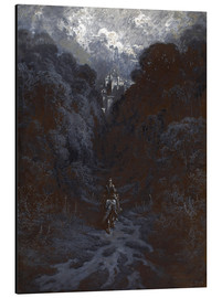 Aluminio-Dibond  Sir Lancelot Approaching the Castle of Astolat - Gustave Doré