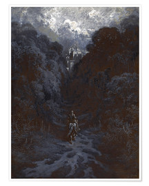 Póster  Sir Lancelot Approaching the Castle of Astolat - Gustave Doré