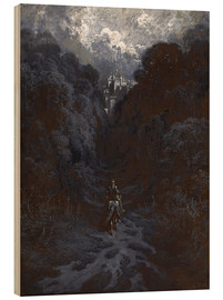 Cuadro de madera  Sir Lancelot Approaching the Castle of Astolat - Gustave Doré