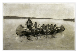 Póster  This Was a Fatal Embarkation - Frederic Remington
