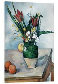 Cuadro de metacrilato  The Vase of Tulips - Paul Cézanne