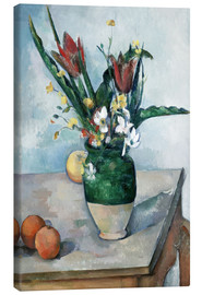 Lienzo  The Vase of Tulips - Paul Cézanne