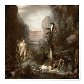 Póster  Hercules and the Lernaean Hydra - Gustave Moreau