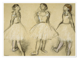 Póster Three Studies of a Dancer in Fourth Position