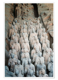 Póster Museum of the Terracotta Warriors, Mausoleum of the first Qin Emperor, Xian, Shaanxi Province, China