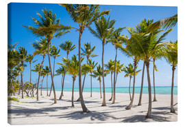 Lienzo  Juanillo Beach, Cap Cana, Punta Cana, Dominican Republic, West Indies, Caribbean, Central America - Jane Sweeney