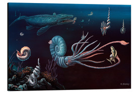Aluminio-Dibond  Cretaceous marine animals, artwork - Richard Bizley