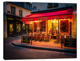 Lienzo  Parisian cafe, Paris, France, Europe - Jim Nix