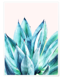Póster  Agave Watercolor - Uma 83 Oranges