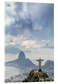 Metacrilato  Rio de Janeiro landscape showing Corcovado, the Christ and the Sugar Loaf, UNESCO World Heritage Sit - Alex Robinson