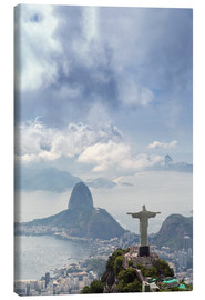 Lienzo  Rio de Janeiro landscape showing Corcovado, the Christ and the Sugar Loaf, UNESCO World Heritage Sit - Alex Robinson