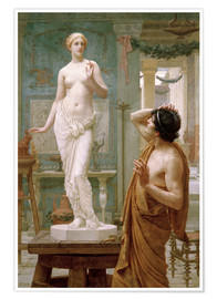 Póster  Pygmalion and Galatea - Ernest Normand