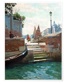 Póster Summer day in Venice