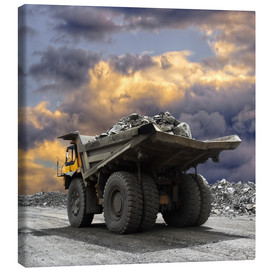 Lienzo  Severe weather in the gravel pit
