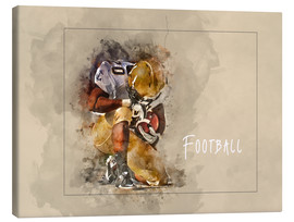 Lienzo  american football - Peter Roder
