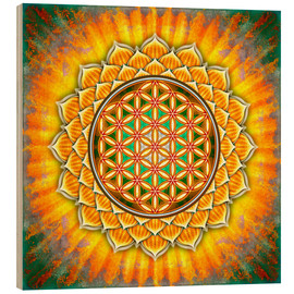 Madera  Flower of Life - Yellow Lotus - Dirk Czarnota