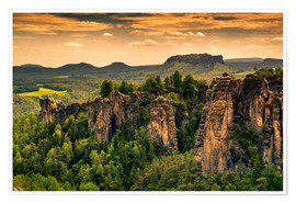 Póster  Sandstone mountains Saxon Switzerland - Reiner Würz