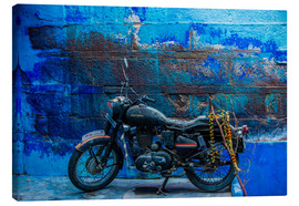 Lienzo  Motorcycle parked on the street of Jodhpur, the Blue City, Rajasthan, India, Asia - Laura Grier